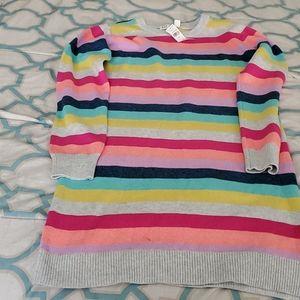 Girls crazy striped sweater dress